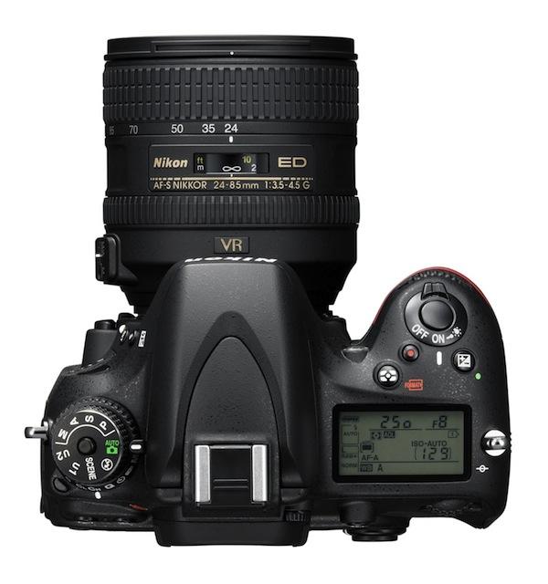 Canon D600 - Top