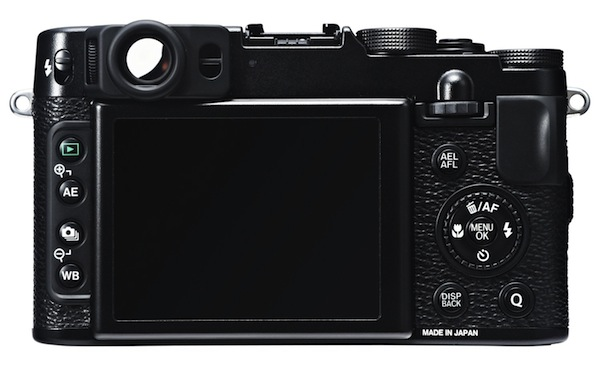 Fujifilm FinePix X20 - Rear