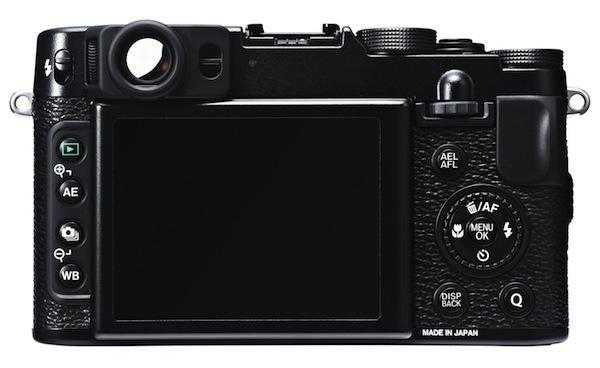 Fujifilm FinePix X20 - Rear