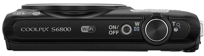 Nikon COOLPIX S6800 - Top
