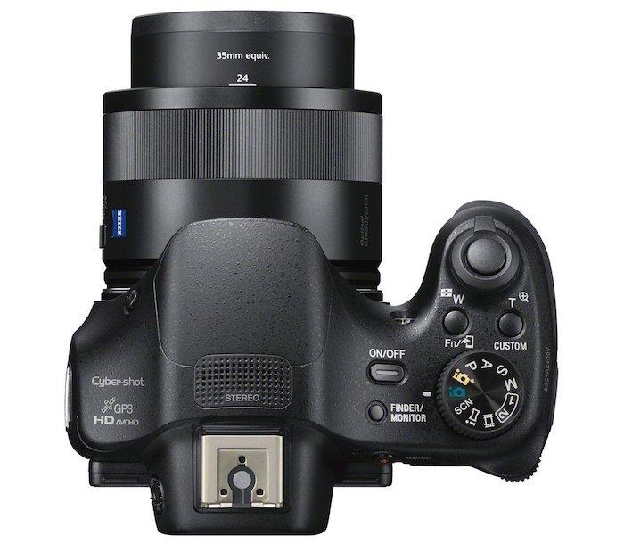 Sony DSC HX400V - Top